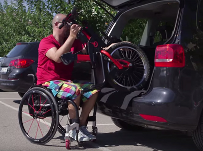 take your batec handbike wherever you want to go in the car